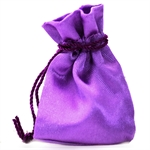 2&#34 Purple Satin Jewelry Pouch/Bag