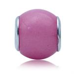 Pink Murano Glass 925 Sterling Silver European Charm Bead (Fits Pandora Chamilia)