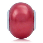 Imitation Red Pearl 925 Sterling S...