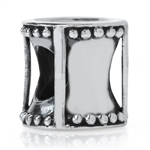 925 Sterling Silver HOURGLASS Euro...