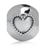 925 Sterling Silver HEART European...
