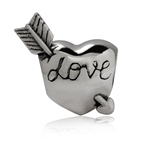 925 Sterling Silver Heart & Arrow ...