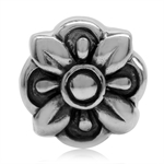 925 Sterling Silver Flower Europea...
