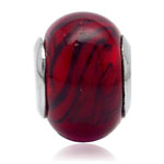 Red Murano Glass 925 Sterling Silv...