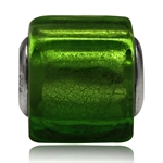 Green Murano Lampwork Glass 925 St...