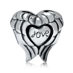 925 Sterling Silver HEART LOVE ANG...