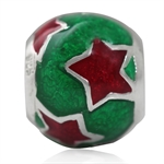 Red & Green Enamel 925 Sterling Si...
