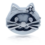 925 Sterling Silver KITTY CAT European Charm Bead (Fits Pandora Chamilia)