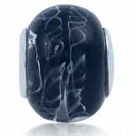 Black Murano Glass 925 Sterling Si...
