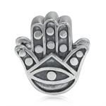 925 Sterling Silver EVIL EYE HAMSA HAND European Charm Bead (Fits Pandora Chamilia)