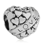 925 Sterling Silver HEART LOVE Eur...