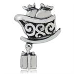 925 Sterling Silver Santa Sleigh &...