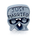 925 Sterling Silver JUST MARRIED E...