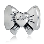 925 Sterling Silver LOVE RIBBON/BO...