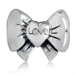 925 Sterling Silver LOVE RIBBON/BO...
