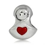 HEART Enamel 925 Sterling Silver T...