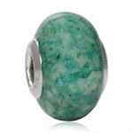 Green Murano 925 Sterling Silver European Charm Bead (Fits Pandora Chamilia)
