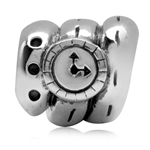 925 Sterling Silver Wristbank Watch European Charm Bead (Fits Pandora Chamilia)