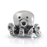 925 Sterling Silver OCTOPUS European Charm Bead (Fits Pandora Chamilia)