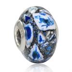 Murano 925 Sterling Silver European Charm Bead (Fits Pandora Chamilia)