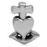 925 Sterling Silver CROSS, HEART &...