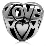 925 Sterling Silver HEART LOVE MOM...