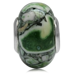 Green & Brown Murano Glass 925 Sterling Silver European Charm Bead (Fits Pandora Chamilia)