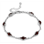 4.97ct. Natural Garnet White Gold ...