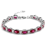 12.04ct. Synthetic Red Ruby White ...