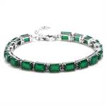 17.1ct. Octagon Emerald Green Agat...