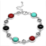 Created Green Turquoise, Onyx & Co...