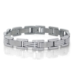 Men's Stainless Steel Link Tennis Bracelet