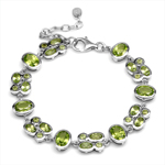 9ct. Natural Peridot White Gold Pl...