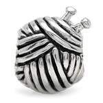 925 Sterling Silver KNIT BALL Thre...