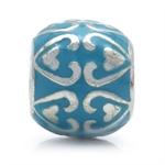 Blue Enamel 925 Sterling Silver HE...
