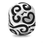Black Enamel 925 Sterling Silver S...