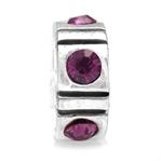 Amethyst Purple Crystal 925 Sterli...
