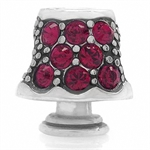 AUTH Nagara Ruby Red Crystal Sterling Silver Lamp Charms Bead Fits Pandora Chamilia
