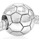 925 Sterling Silver SOCCER Threade...