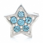 Crystal STAR 925 Sterling Silver Threaded European Bead