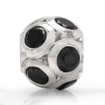 Black CZ 925 Sterling Silver Ball ...