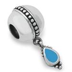 Blue Enamel 925 Sterling Silver Ba...