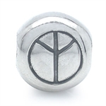 925 Sterling Silver PEACE Threaded...