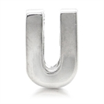 Initial U 925 Sterling Silver Thre...