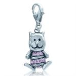 Pink CZ 925 Sterling Silver PUPPY ...