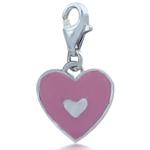 Nagara Pink Enamel Heart 925 Sterl...