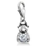 White CZ 925 Sterling Silver Chine...