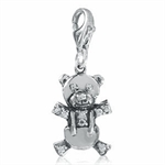 White CZ 925 Sterling Silver TEDDY...