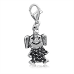 Black CZ 925 Sterling Silver ELEPH...