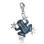 Sapphire Blue CZ White Gold Plated...